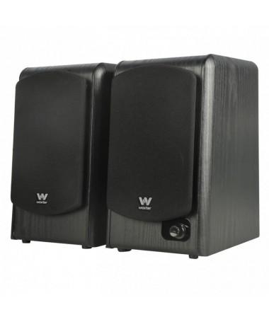 ph2Conjunto de altavoces de estanteria con 180W y terminados en madera Woxter DL 610 Black h2Los altavoces de estanteria Woxter