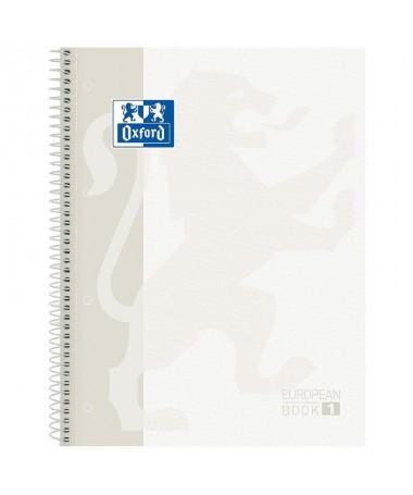pLibreta Oxford color blanco classic Tapa extradura 80 Hojas  p