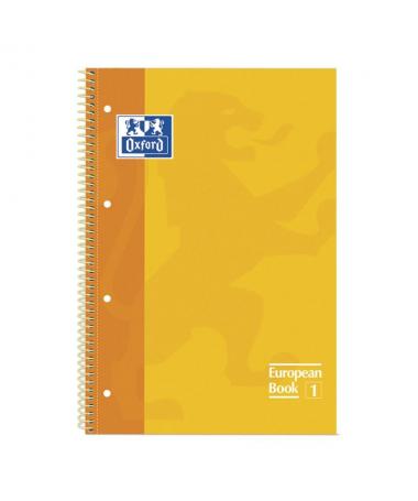 Cuaderno Oxford de tapa extradura con recuadro a juego de la tapa Espiral tambien del mismo color que las tapas Papel de 90 gra