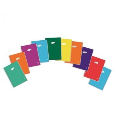 p Libreta sencilla con espiral Cuadricula de 4mm Cubierta de cartoncillo plastificado de 400 grs yreverso gris en ocho colores