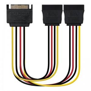 pIdeal para convertir un conector SATA a dos conectores SATA alimentacionbrul liLongitud 20 cm li liNormativas RoHS li liTest d