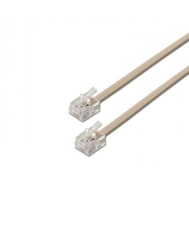 pul li Cable de telefono con conector RJ11 en ambos extremos li li Conector de tipo 6P4C 4 contactos cable de telefono de 4 hil
