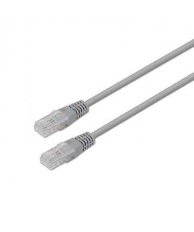 pAISENS 8211 Cable de red latiguillo RJ45 Cat5e UTP AWG24 gris 20 metros 10 100 Mbit s Conmutador router modem panel de conexio