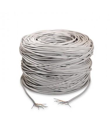 pAISENS 8211 Cable de red RJ45 Cat5e UTP rigido AWG24 gris bobina de 100 metros para la instalacionbrul liBobina cable de red C