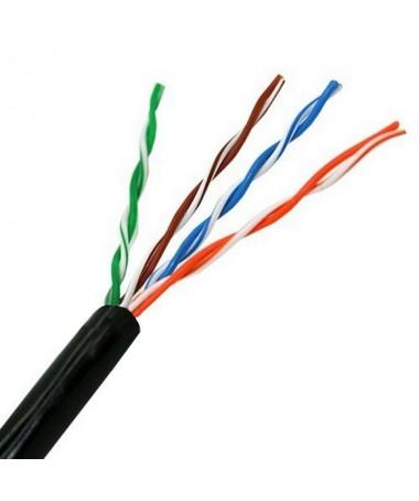 pul liBobina cable de red Cat 5e UTP AWG24 rigido calidad garantizada para uso exterior li liLa capa exterior del cable esta fa