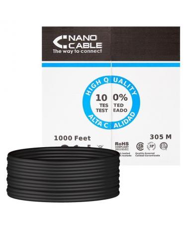 pBobina cable de red Cat 5e UTP AWG24 rigido calidad garantizada para uso exterior La capa exterior del cable esta fabricada co