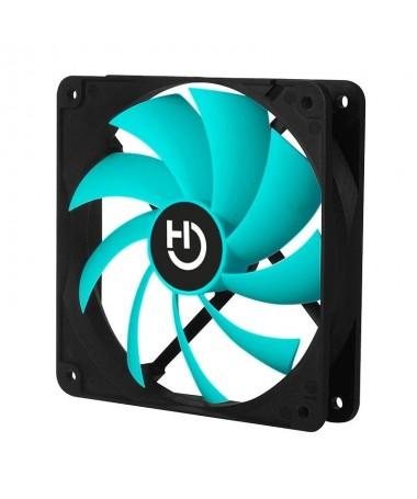 pFabricado con marco y 7 aspas color turquesa este ventilador para pc genera un flujo de aire de hasta los 49 CFM brAspas equil