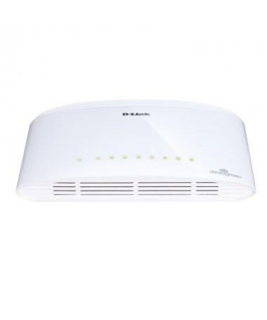pEl Switch D Link DGS 1008D un switch de sobremesa con 8 puertos 10 100 1000Mbps que ofrece un elevado rendimiento en un dispos