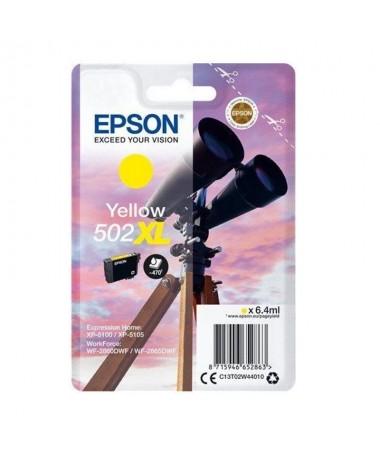 pulliCartucho de tinta Epson 502XL amarillo liliPaginas 470 liliCompatible con liliWorkForce WF 2860DWF WorkForce WF 2865DWF Ex