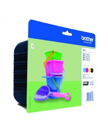 pulliPack de 4 cartuchos de color para impresoras tinta lili260 paginas cada color BK C M Y segun ISO IEC 24711 liliTinta color