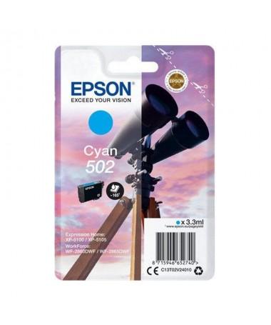 pulliCartucho de tinta Epson 502 cyan liliPaginas 165 liliCompatible con liliWorkForce WF 2860DWF WorkForce WF 2865DWF Expressi