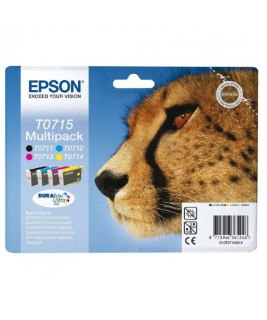 Cartucho de tinta Epson T0715 4 colores Amarillo Cyan Magenta NegrobrContenidobr239 mlbrh2brCompatibilidad h2brULLIEpson Stylus