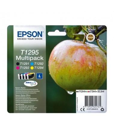 Cartucho de tinta Epson T1295 4 colores Magenta Amarillo Cyan Negrobrbrh2Compatibilidad h2brULLIEpson Stylus Office B42WD LILIE