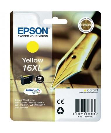 Cartucho de tinta Epson 16XLh2brbrEspecificacionesbr h2ULLIColor Amarillo LILICapacidad 65ML LILICompatibilidad LILIWorkForce W