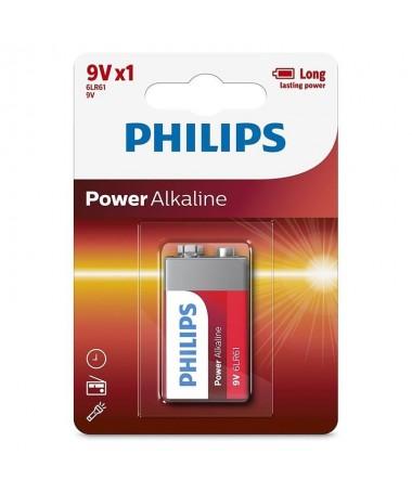 pul liPhilips Power Alkaline 6LR61P1B 05 li liPila de un solo uso li li9V li liAlcalina li ulbr p