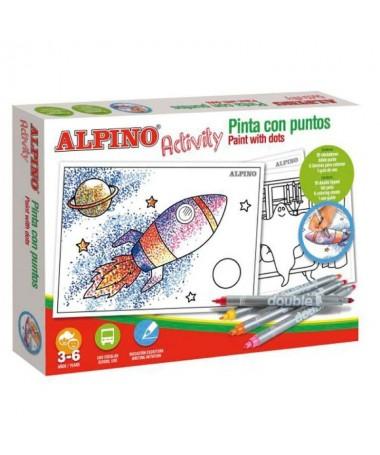 pEstuche Alpino Activity Pinta con puntosbrbrbIncluye bbrul li10 rotuladores doble punta lili6 laminas para colorear li liGuia