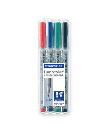 Estuche exclusivo STAEDTLER box con 4 rotuladores colores 2 3 5 9