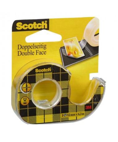 Cinta de doble cara con adhesivo permanente en ambos lados Se presenta con un portarrollos de plasticoh2brbrEspecificaciones te