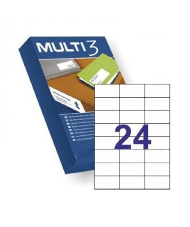 pul liTamano etiqueta 70x37mm li li24 pegatinas por cada hoja li liCaja de 500 hojas Din A4 li liAptas para impresoras inkjet l