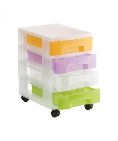h4Caracteristicas Principales h4p pulliTorre de almacenaje con ruedas lili4 Cajones de 6 litros liliColor de los cajones surtid