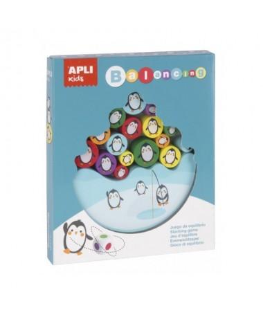 pliJuego de equilibrio con piezas de madera de alta calidad liliCada juego contiene 16 piezas de madera con disenos de pinguino