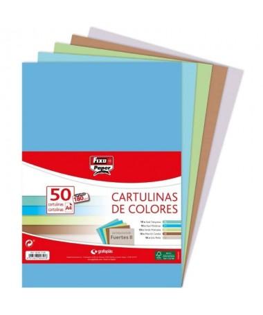 pliCartulinas FIXOpaper certificadas FSC liliEn formato DIN A4 paquetes de 50 uds liliGramaje de 180 g m liliColores Fuertes II