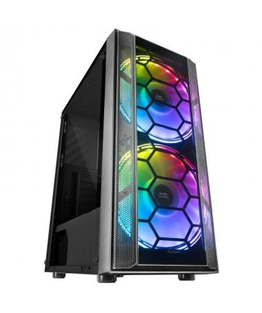 ph2SEMITORRE GAMING MC500 h2Refrigeracion extrema gracias a sus 2 ventiladores XXL de 18cm y su frontal mesh espectacular ilumi