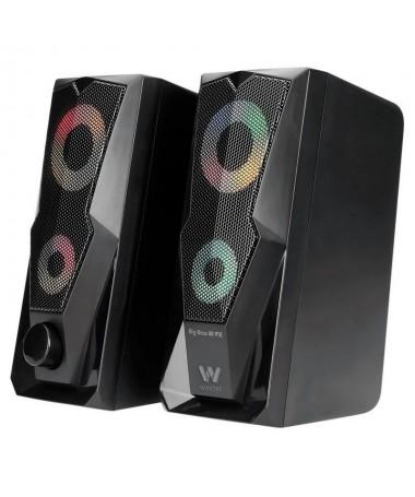 pWoxter Big Bass 80 FX es un compacto sistema de altavoces estereo para gamers que ofrece una fantastica calidad de sonido para