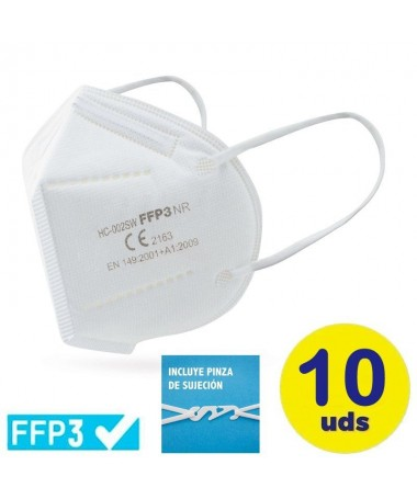 pbMascarilla ultra PLUS proteccion FFP3 color blanco bbrPresentacion en bolsa individual con cierre hermeticobr pul liIncluye p