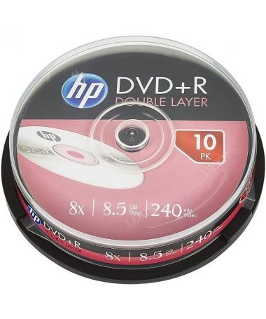 ulliJuego de 10 DVD virgenes doble capa liliCada DVD tiene capacidad para 47 GB y 240 minutos liliVelocidad de escritura de has