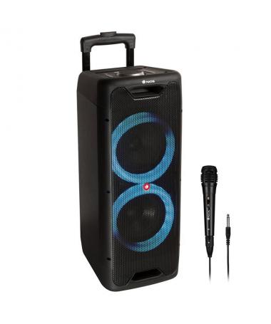 Potente altavoz portatil compatible con tecnologia Bluetooth 50 y TWS equipado con doble subwoofer de 5 y 200W de potencia de s