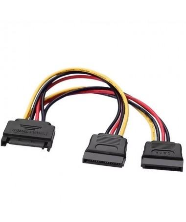 pul liConector SATA alimentacion macho en un extremo y dos conectores SATA alimentacion hembra en el otro li liIdeal para conve