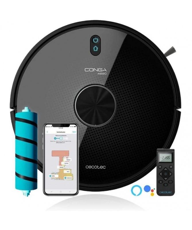 pul liRobot Aspirador Conga 4690 Ultra Laser Aspira friega barre y pasa la mopa Gestion de estancias con RoomPlan 20 Sensor opt