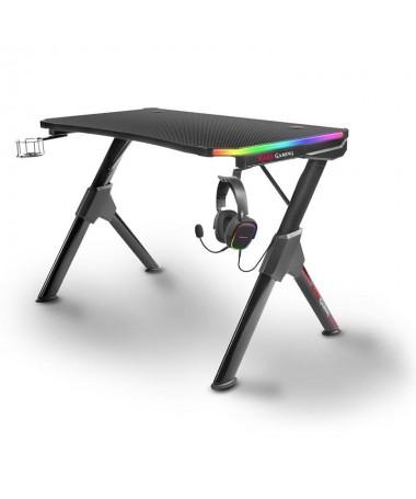 pMesa gaming con iluminacion RGB y mando de control remoto brDiseno ergonomico y estructura de acero solida y resistentebrSuper