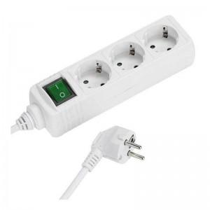 pul liRegleta blanca para 3 enchufes con interruptor li liEnchufes en angulo de 45º li liContactos de seguridad Children secur