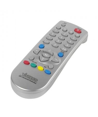 PULLIMando universal compacto 2en1 LILITV y DVB TDT DVB S sat DVB C cable o analogico sat LILICompatible con casi todas las mar