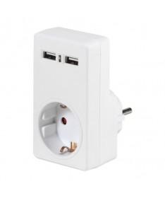 pul liAdaptador de corriente con 2x USB 21A max Para cargar mediante un cable de datos USB desde telefonos inteligentes tableta