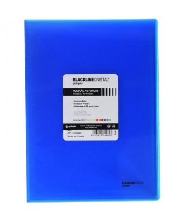 pulliCubiertas en PP polipropileno semi rigido li liCon 40 fundas interiores transparentes soldadas al lomo li liPara formato f