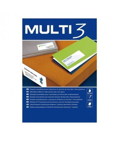 Etiquetas Adhesivas economicas Multi3 100 para inkjet laser copiadora