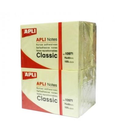 Notas adhesivas Bloc 100 h Amarillo 50 x 75