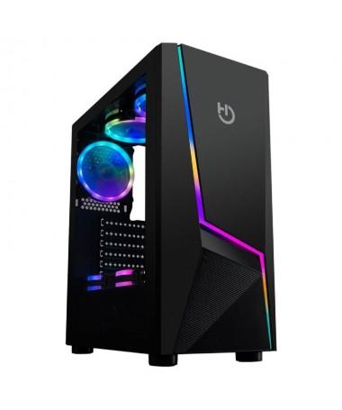 p ph2Diseno gaming con iluminacion ARGB Rainbow y cristal templado h2V20 incorpora iluminacion ARGB Rainbow en su frontal y tie