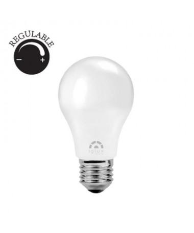 p pdivBombilla LED estandar regulable con casquillo E27 una potencia de 9W 820 lumenes Dispone de unas medidas de Ø65x110 mili