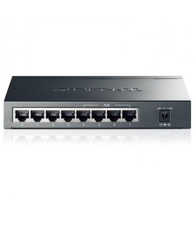 Este switch para sobremesa de 8 puertos Gigabit con 4 puertos PoE permite conectar entre si dispositivos de red de un modo senc