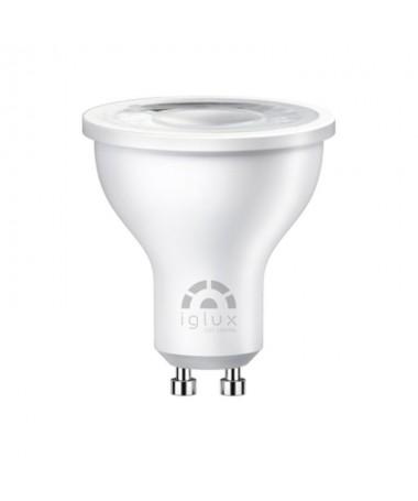 pBombilla LED GU10 con unas medidas de Ø50x56 milimetros con 3000ºK CRI80 y un indice de proteccion IP20 Se trata de una bomb