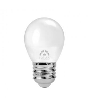 pBombilla LED mini globo con casquillo E27 una potencia de 5W 400 lumenes Dispone de unas medidas de Ø45x80 milimetros un CRIg