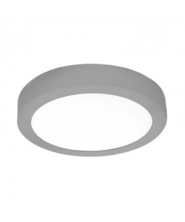pDownlight de superficie fabricado en aluminio y policarbonato en plata Cuenta con un LED SAN AN SMD 2835 unas medidas exterior