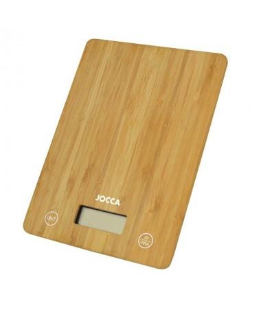 pul liBascula de cocina hecha de bambu li liSoporta un peso maximo de 5 kg li liDispone de una pantalla LCD de facil lectura li