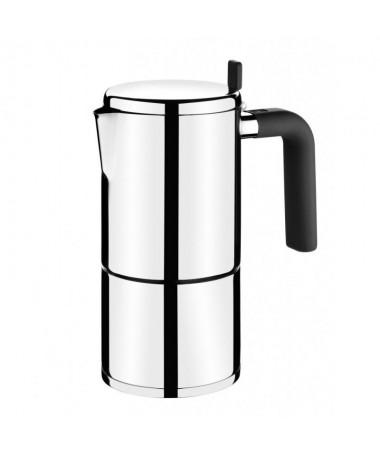 Cafetera fabricada en acero inox 18 10 de la mas alta calidad con el diseno mas modernobrApta para todo tipo de cocinas incluid