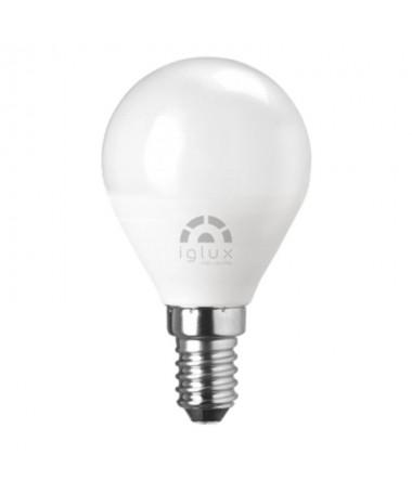 ppBombilla LED miniglobo con casquillo E14 una potencia de 5W 450 lumenes Dispone de unas medidas de Ø45x80 milimetros un CRIg