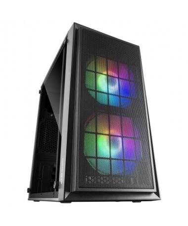 ph2CAJA COMPACTA GAMING MCDUO h2pCaja compacta RGB para configuraciones Gaming de alto rendimiento en formatos MicroATX amp Min